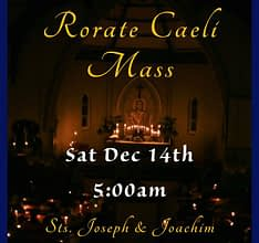 Rarate Caeli Mass, 5 am, 14 December, Otahuhu, Auckland, New Zealand