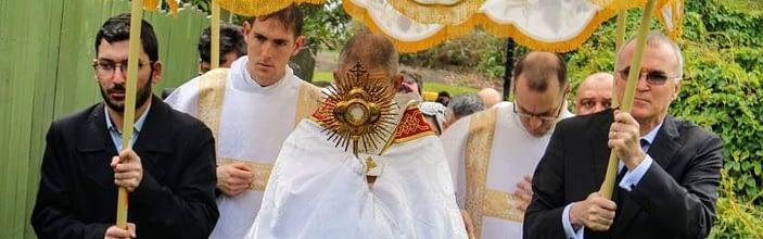 FSSP Auckland, New Zealand, Corpus Christi Procession 2020