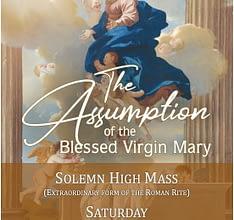 Solemn High Mass, Feast of the Assumption 15 August 2020, Auckland, NZ
