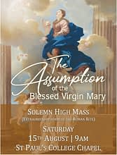 Solemn High Mass, Feast of the Assumption 15 August 2020, Auckland, NZ