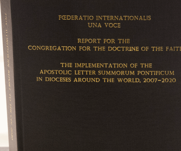 Foederatio Internationalis Una Voce  Report for the Congregation for the Doctrine of the Faith  The Implementation of the Apostolic Letter Summorum Pontificum in Dioceses Around the World 2007-2020.
